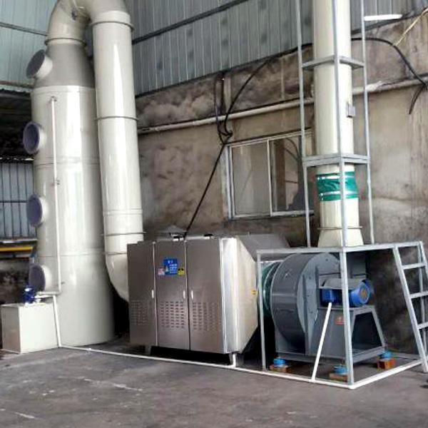 垃圾除臭废气:鼎点平台+光氧催化