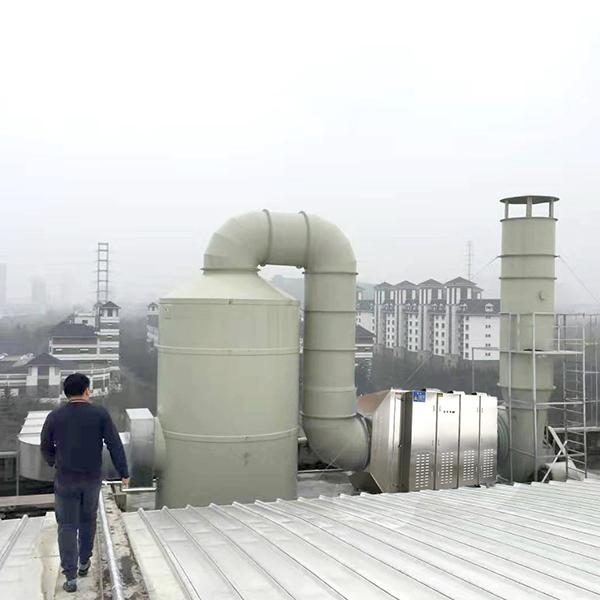 污水除臭废气:鼎点平台+光氧催化设备
