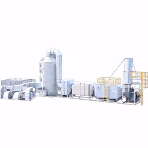 橡胶废气:鼎点平台+光氧+活性炭组合设备